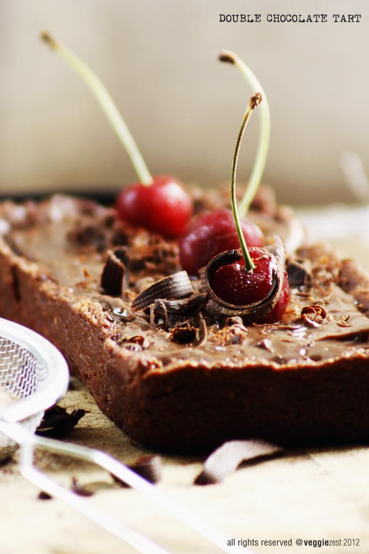 ... double chocolate layer cake caramel swirled double chocolate tart