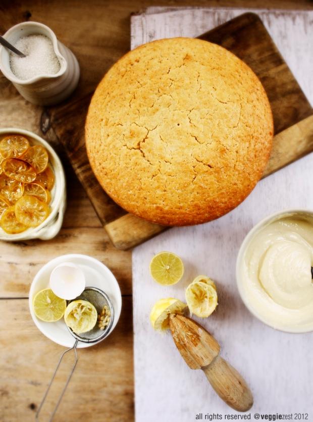 Lemon Poppyseed Cake with Lemon Curd Sauce | veggiezest