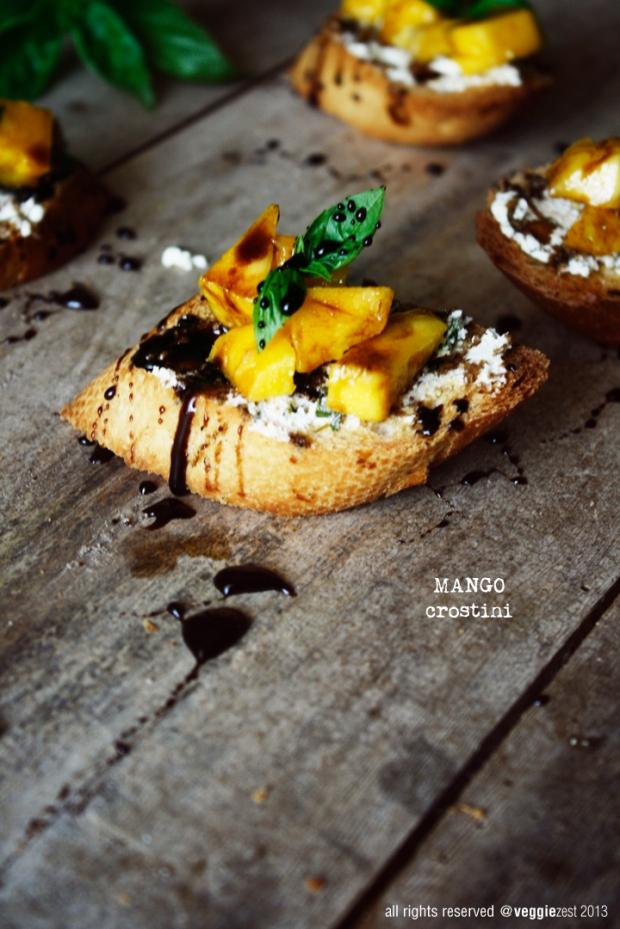 Mango Crostini
