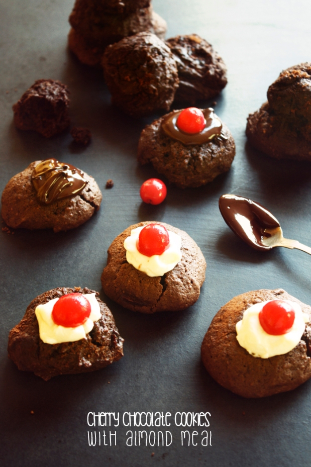 cherry chocolate cookie