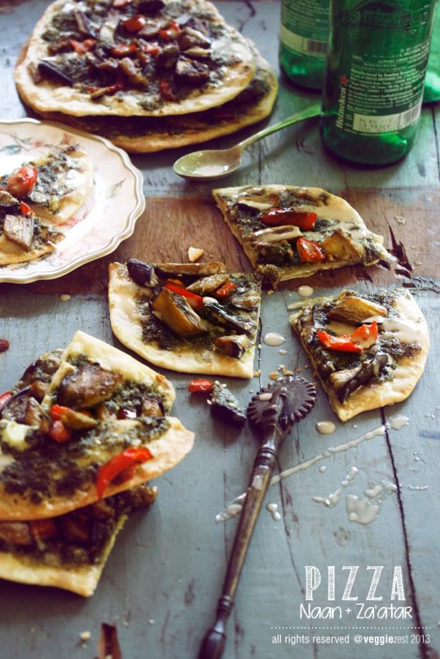 Naan Za'atar Pizza