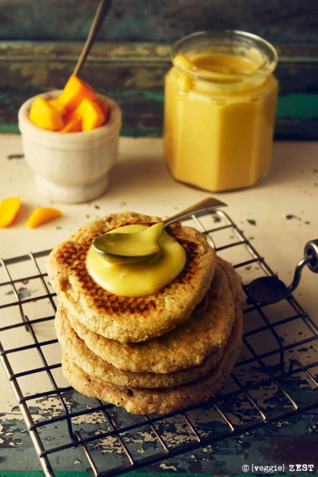 mango curd pancake