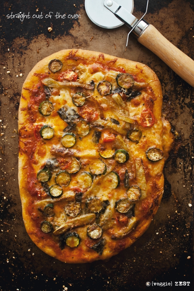 Eggplant & Zuccchini Pizza