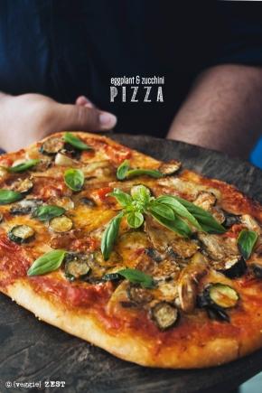 Eggplant & Zuccchini Pizza